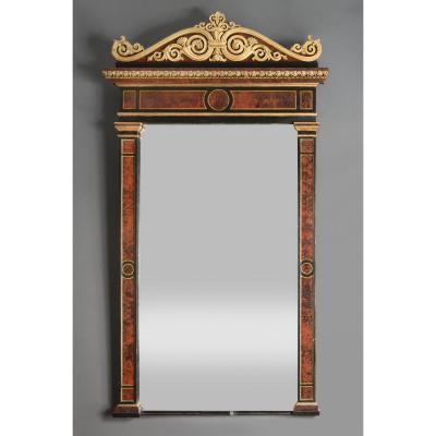 Miroir en bois peint en trompe l'œil – Gênes – années 1820-1830