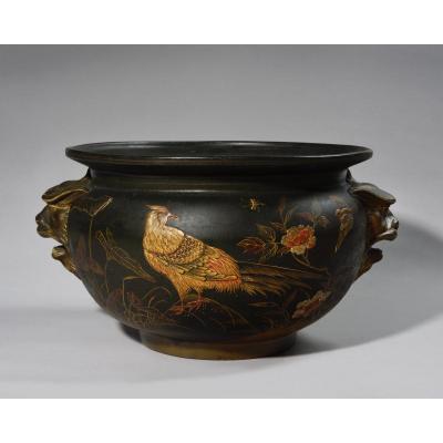 Cache Pot – Auguste Majorelle – Terre Cuite De La Manufacture De Toul – 1874/1876