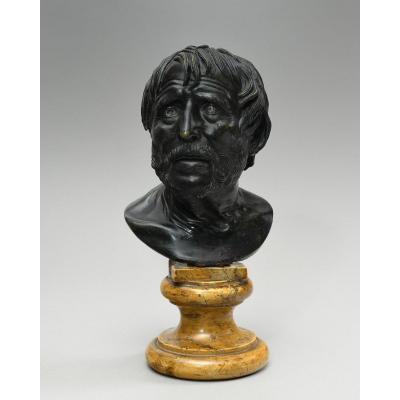Pseudo-sénèque En Bronze – Deuxième Moitié Du XIXe Siècle