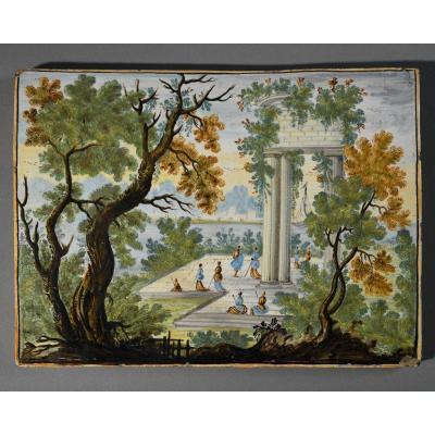Castelli - Majolica Plate - XVIII Century