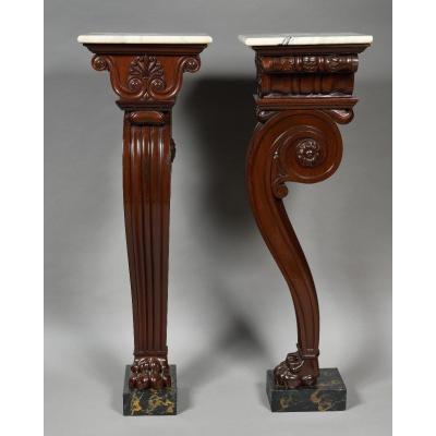 Attributed To Thomas Hope - Pair Of Mahogany Pedestal - 19th Century