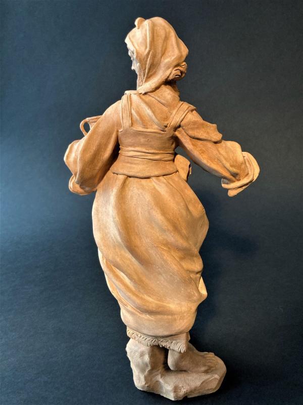 Terre Cuite Représentant Une Femme – XVIIIe Siècle – Sud De L'italie-photo-2