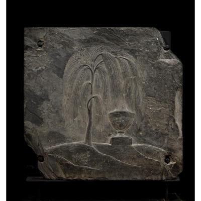 Weeping Willow Slate Bas-relief