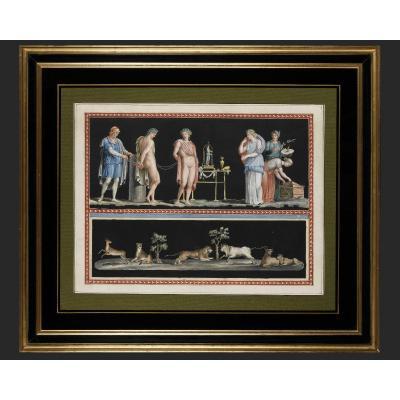 Michelangelo Maestri – Paire De Scènes Mythologiques