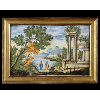 Castelli - Majolica Plate - 18th Century