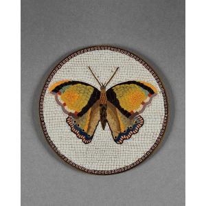 Giacomo Raffaelli - Micromosaïque Au Papillon