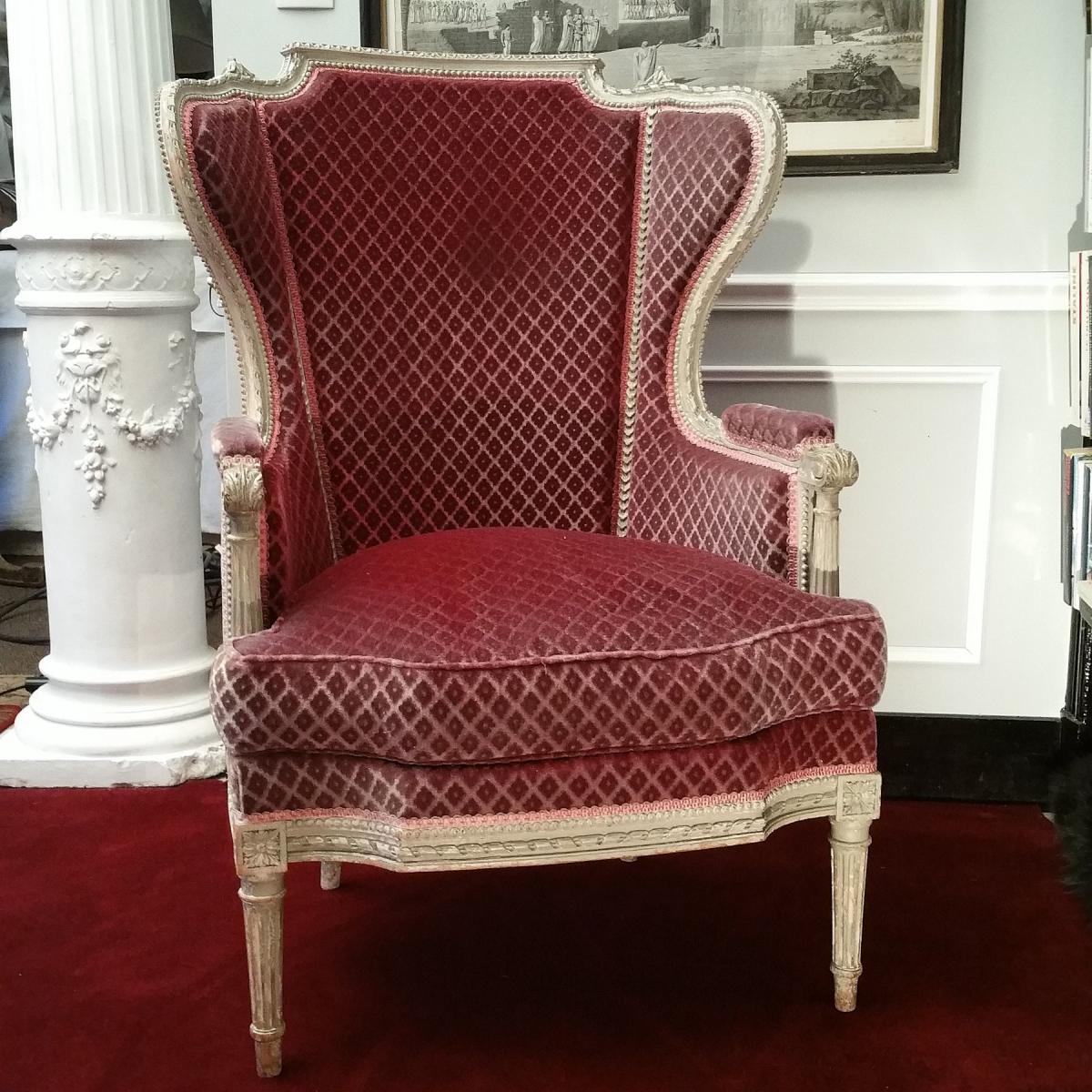 Bergère à Oreilles Style Louis XVI