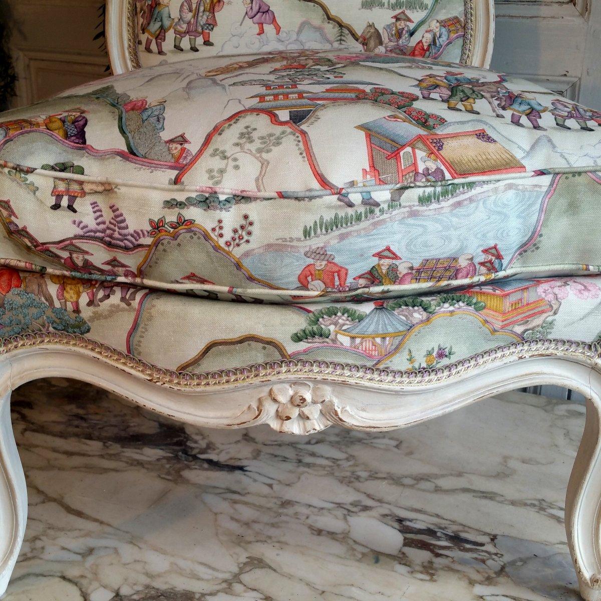 Chauffeuse patinée Louis XV