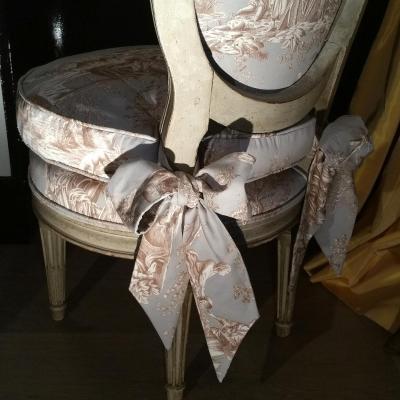 Chauffeuse Style Louis XVI Fin XIXème