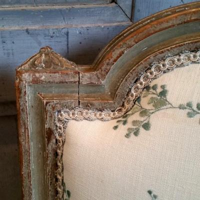 """Paire chaises """"coin de feu"""" Epoque Louis XVI"""