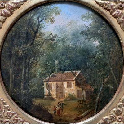 Paire D'huile Sur Panneau, XVIIIème Siècle.