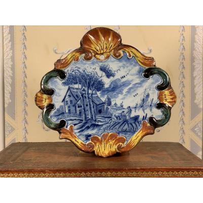 Delft Plate, Circa 1770.