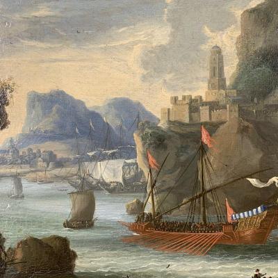 École Italienne Vers 1750, Marine.