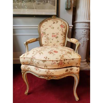Cabriolet Laqué Epoque Louis XV