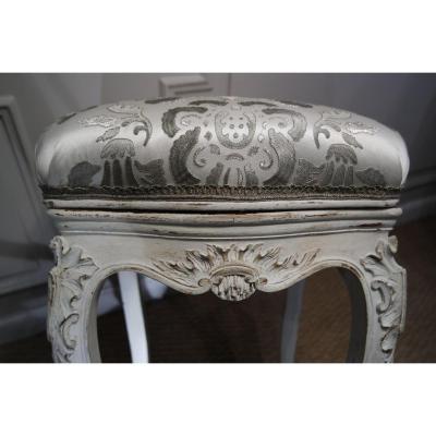 Tabouret de Musicien, style régence. XIXème siècle.