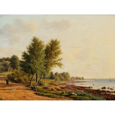 Frederik Christian Kiaerskou - Au 1860 - Tres Finement Peint