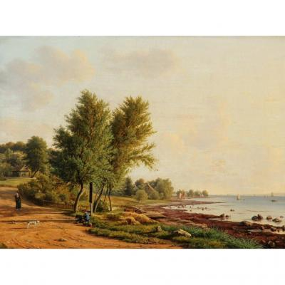 Frederik Christian Kiaerskou - About 1860 - Very Finely Painted