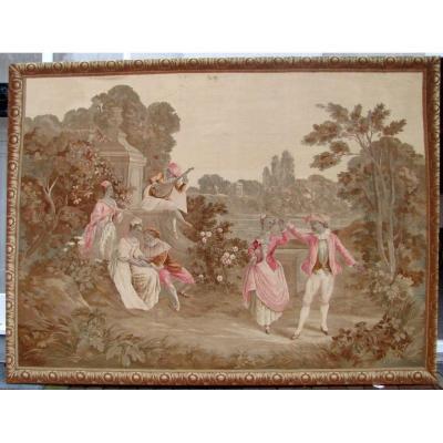 Tapisserie d'Aubusson Vers 1900 -scène Pastorale, Christie's