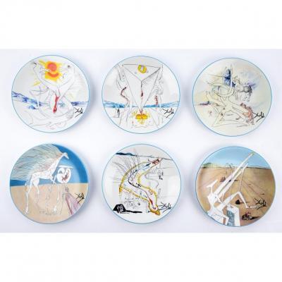 Salvador Dali - Porcelain Plates 'conquest Of The Cosmos'
