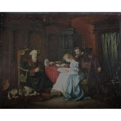 Maître Du 19ème Siècle - Scène Intérieure - Qualité Musée