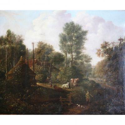 Debut 19ème Siècle - Raffiné Peinture à l'Huile