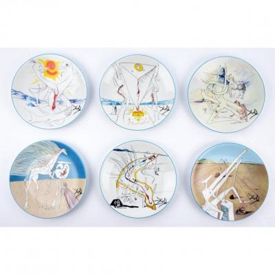 Salvador Dali - Assiettes Porcelaine 'la Conquête Du Cosmos'
