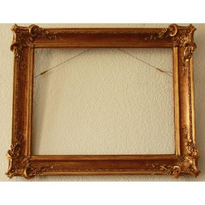 Large Old Frame, Gilded, 19th Century, Good Condition