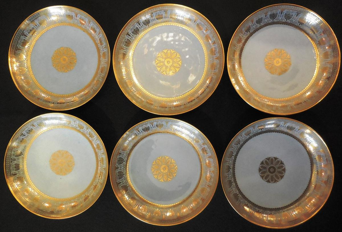 Six Coupelles De Sèvres, Service De Table Du Roi Louis-philippe