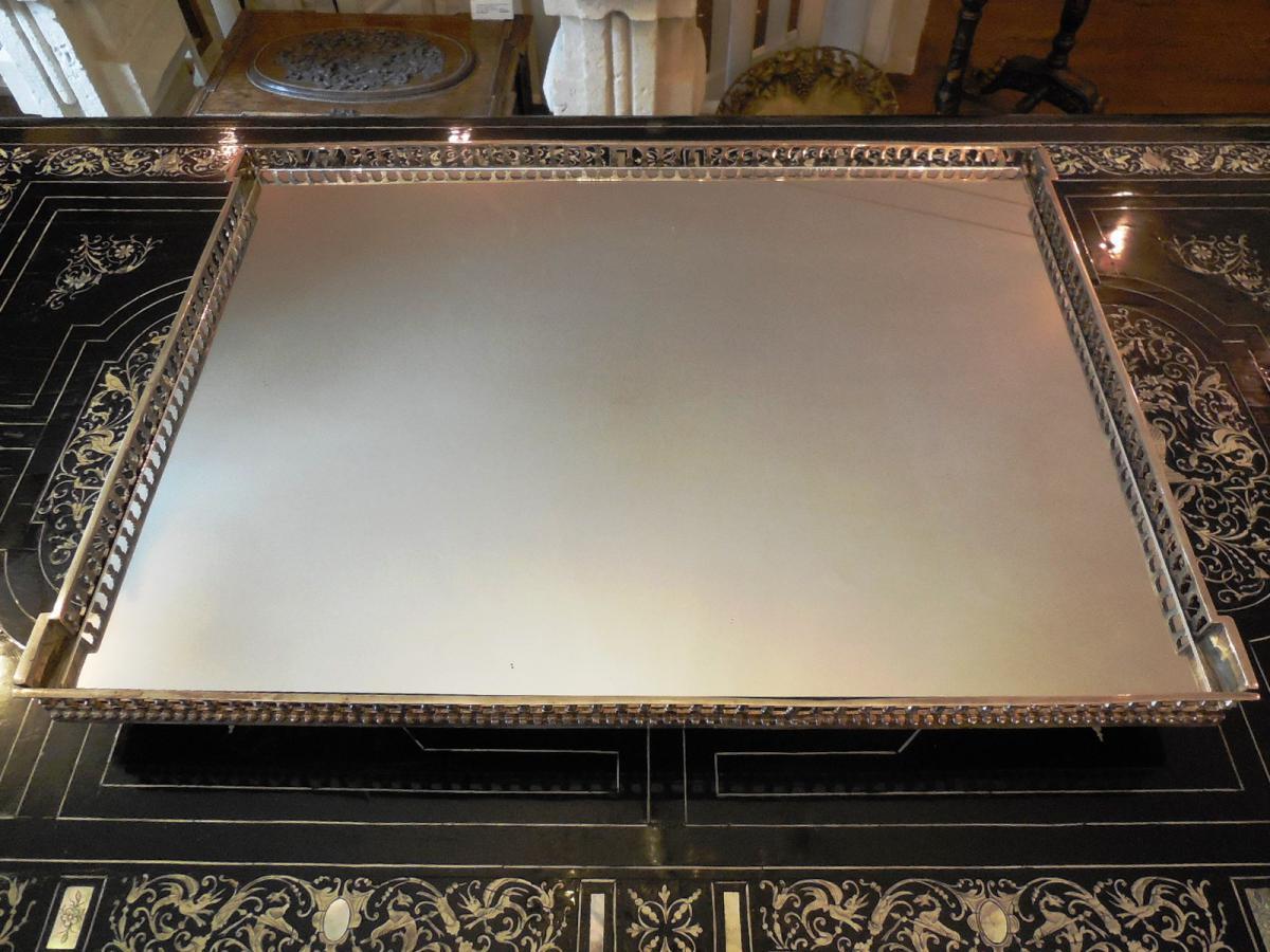 Surtout De Table En Bronze Argenté, Vers 1880
