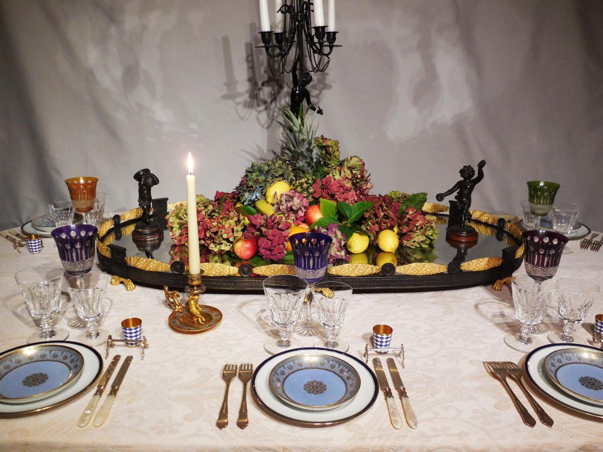 Grand surtout de table en bronze objets de d coration for Grand objet deco