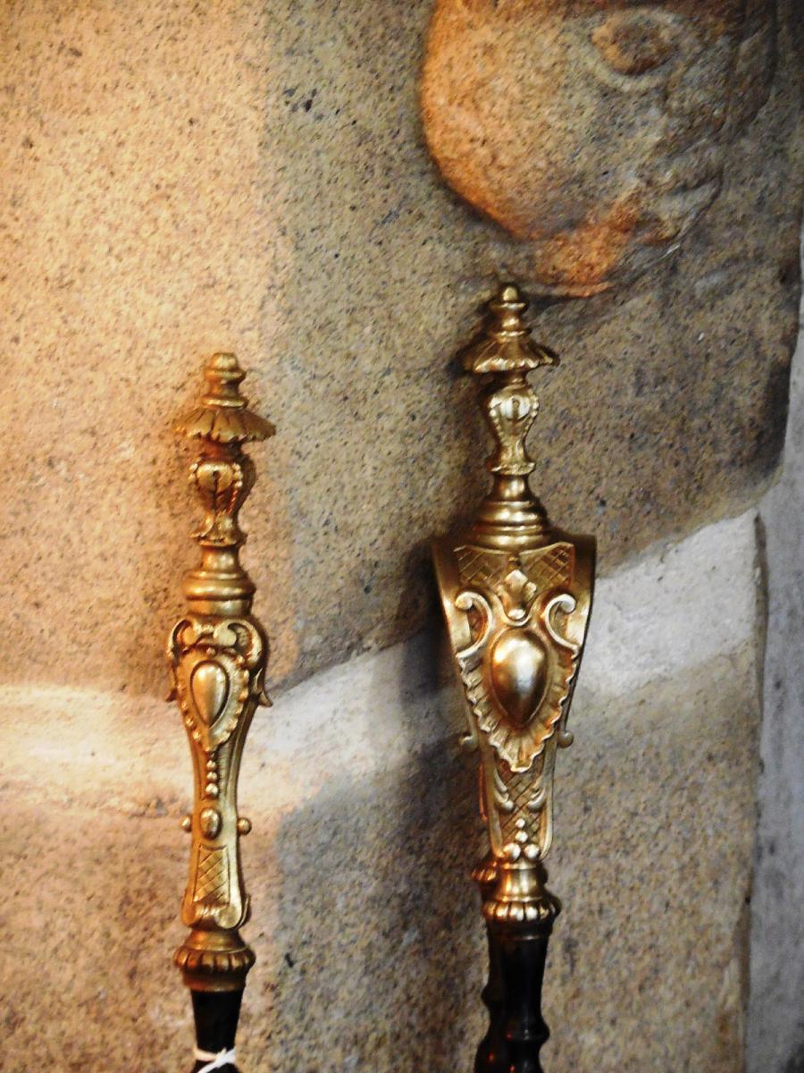 Pince et Pelle De Cheminée Napoléon III