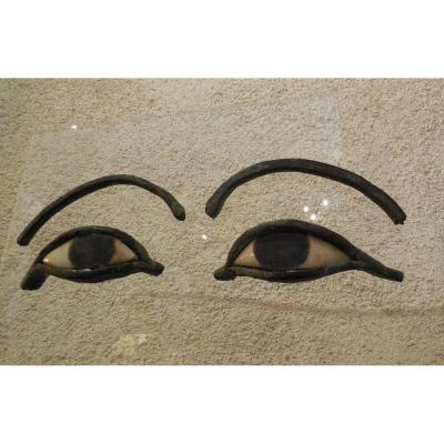 A Great Pair Of Eye Mask Sarcophagus
