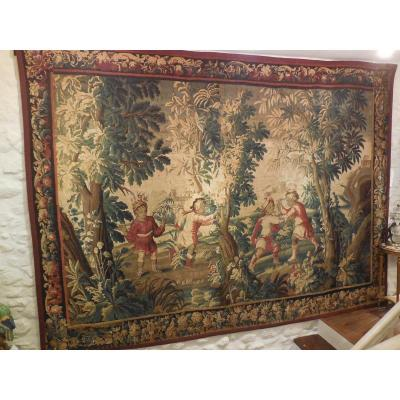 "Great Aubusson Tapestry, ""turquerie"" Late 17th-early 18th Century."
