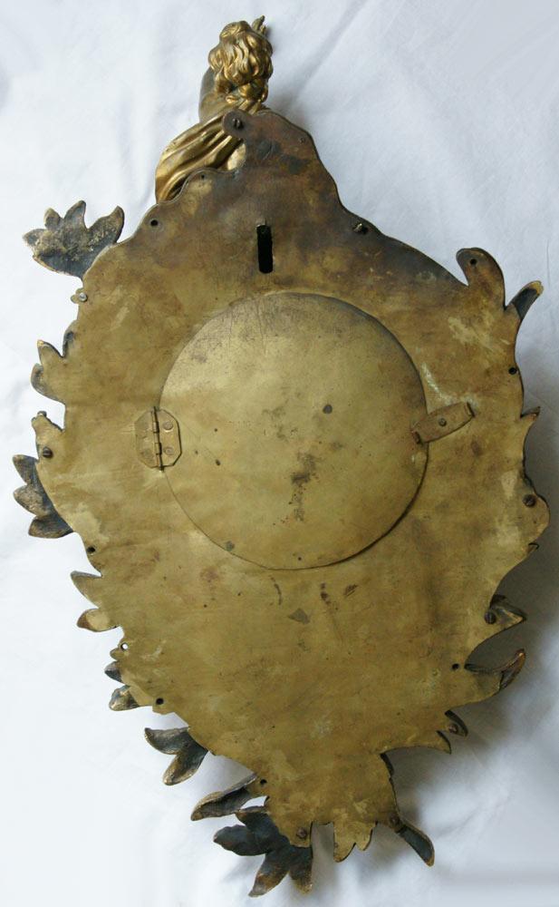 A Louis XV Ormolu Gilt Bronze Cartel Clock -photo-1