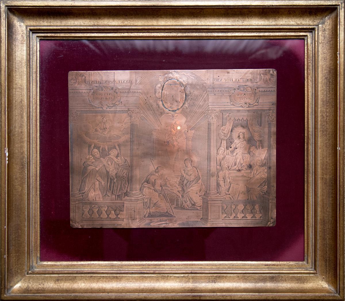 Engraved Copper Matrix By Louis Spirinx (1596-1669)