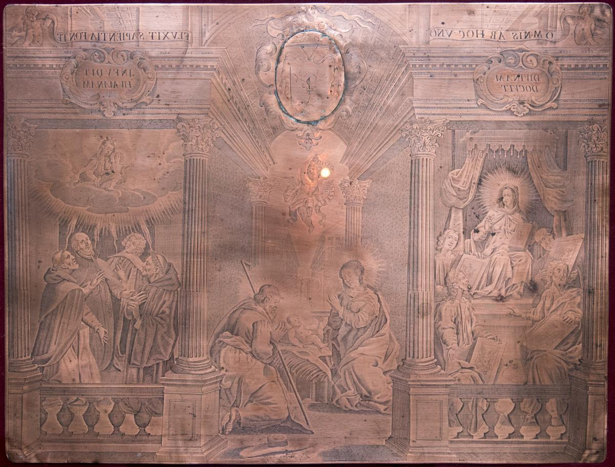 Engraved Copper Matrix By Louis Spirinx (1596-1669)-photo-2