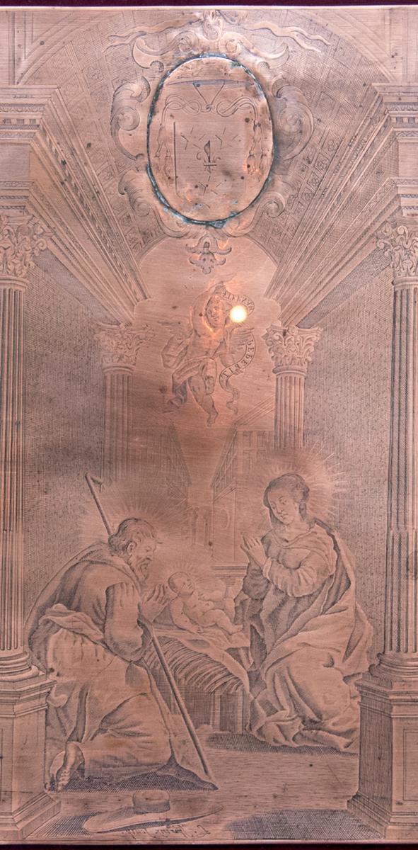 Engraved Copper Matrix By Louis Spirinx (1596-1669)-photo-4