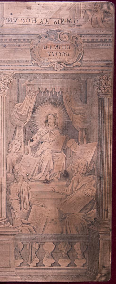 Engraved Copper Matrix By Louis Spirinx (1596-1669)-photo-1