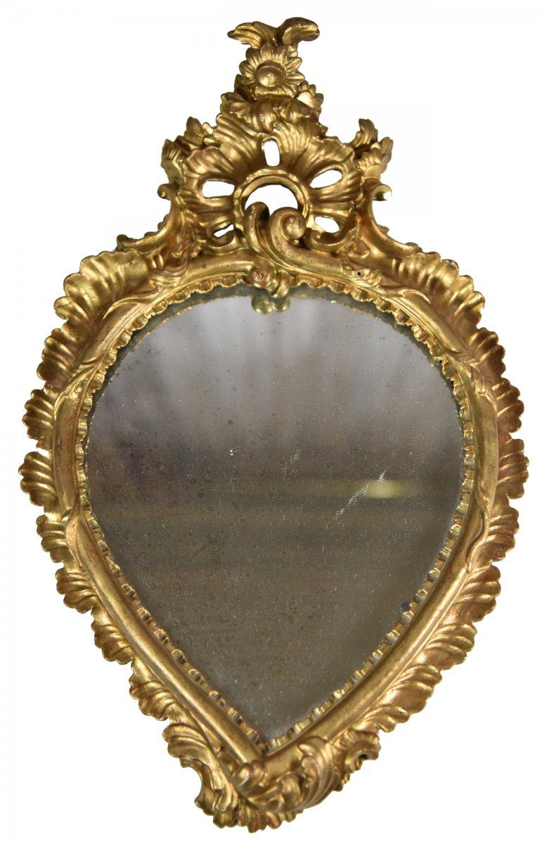 Miroir rococo italien du XVIIIe siècle
