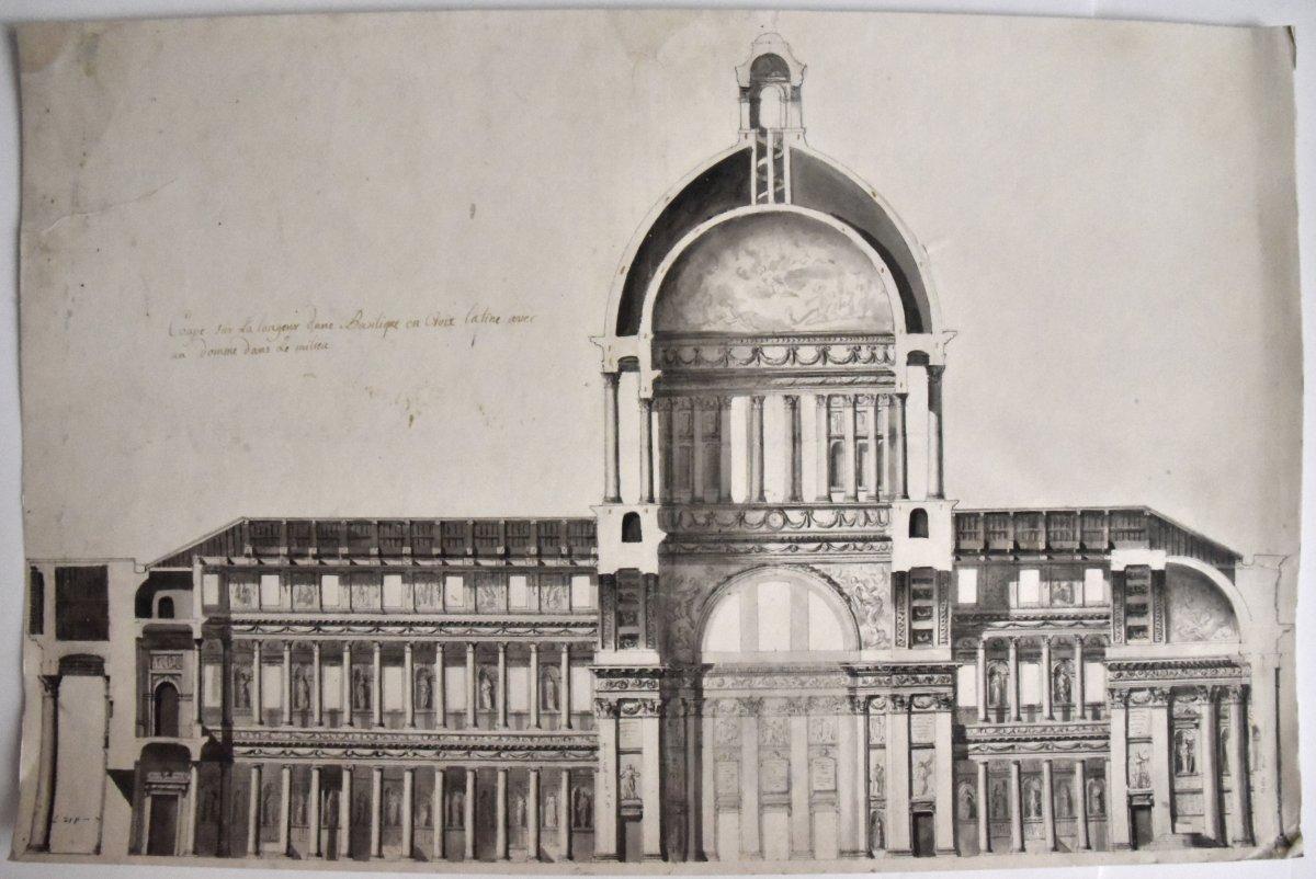 Grand projet de basilique vers 1750-1770