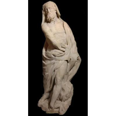 Statue allégorique de l'Hiver en marbre vers 1700