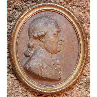 Terracotta Medallion With A Gentleman's Profile