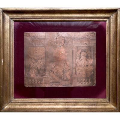Matrice gravée en cuivre de Louis Spirinx (1596-1669)
