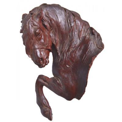 Wax Horse Bust, Original Sculpture