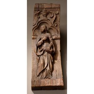 Console ornée d'une figure de sainte - France, vers 1520-1550