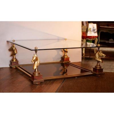 Table Basse A Tete De Chevaux Maison Charles