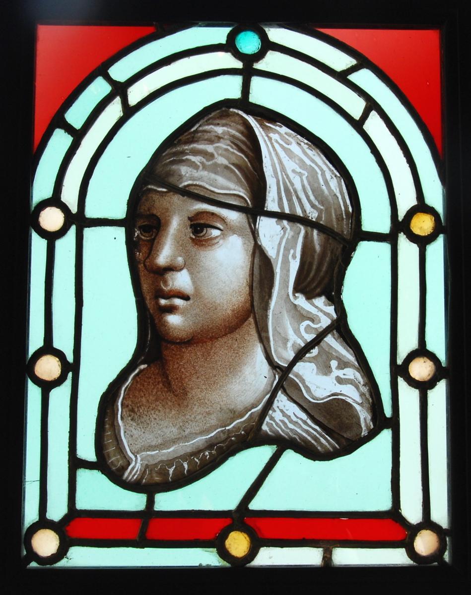 Stained Glass Portrait 16 Ème Siecle