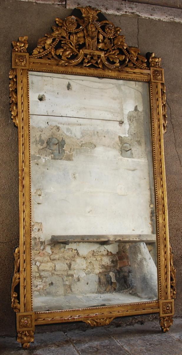 Louis XVI Period Pediment Mirror