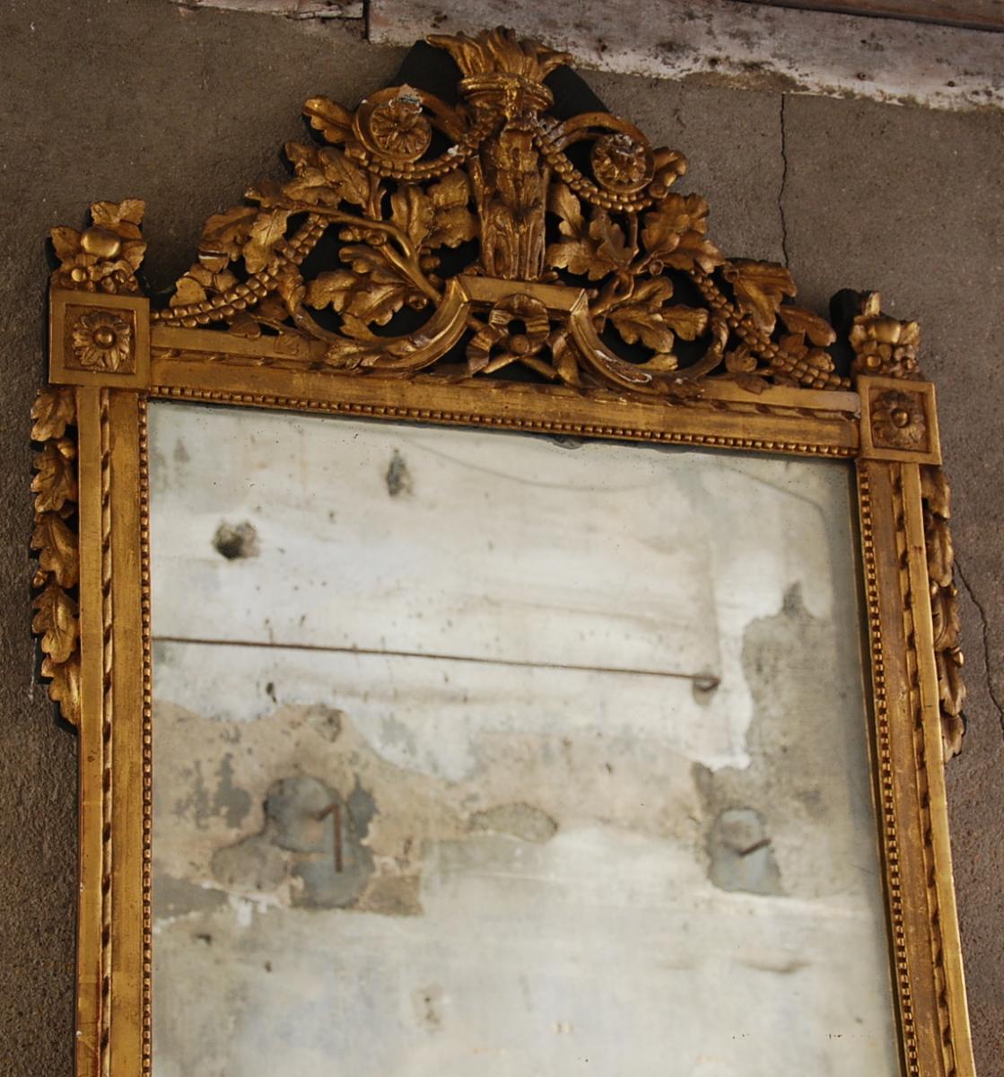 Miroir À Fronton Époque Louis XVI-photo-2