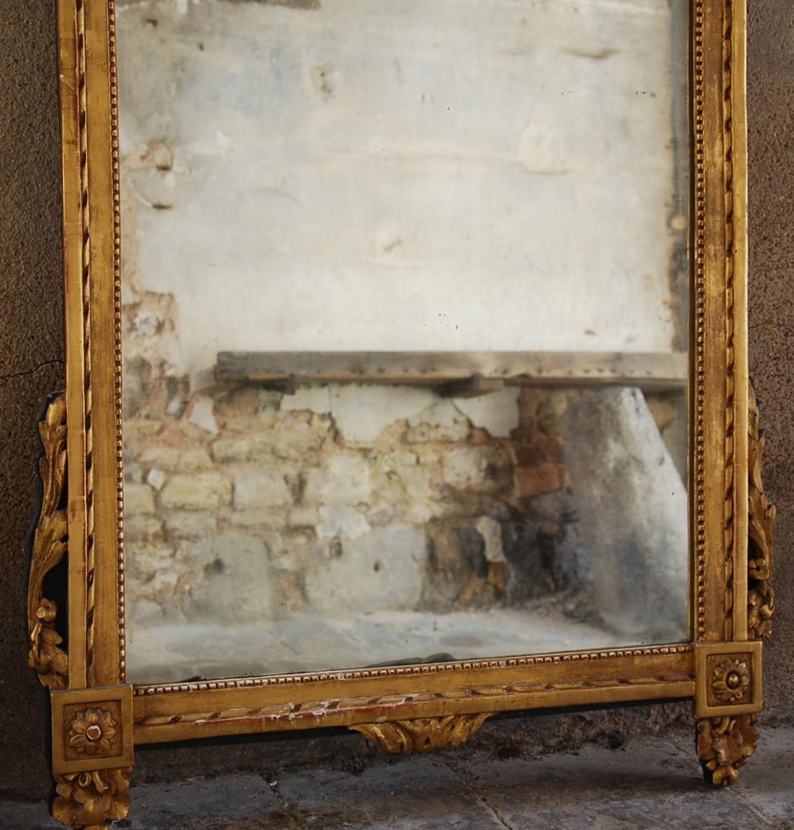 Miroir À Fronton Époque Louis XVI-photo-3